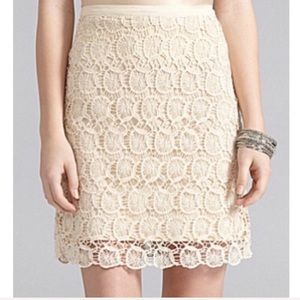 Cremieux Audrey Cream Lace Pencil Skirt